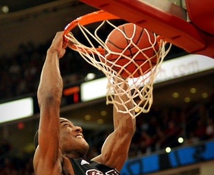 Wolfpack guard Rodney Purvis slams two against Clemson in an ACC regular season home win.